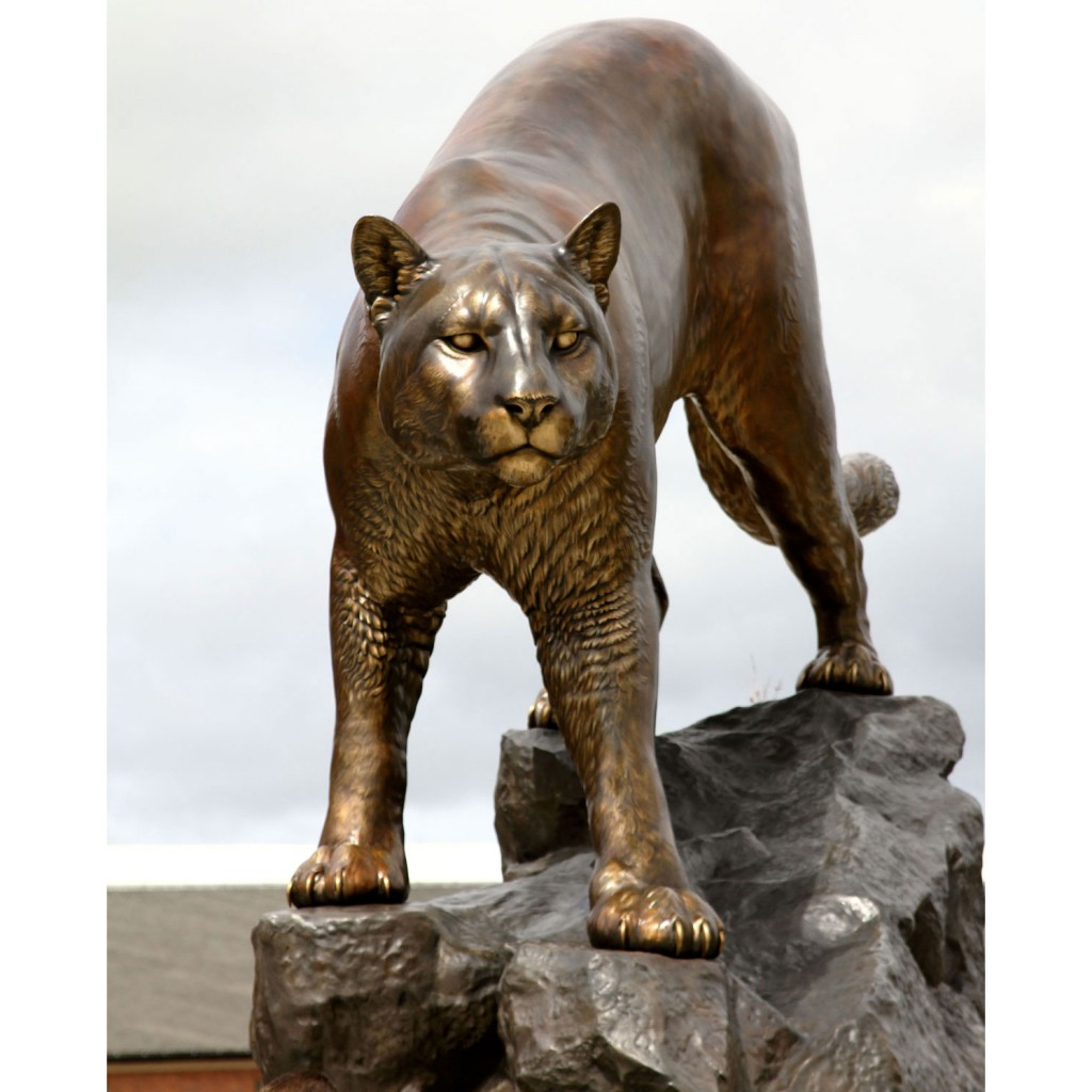Cougar Pride Washington State University Cougar Sculpture Statue Monument