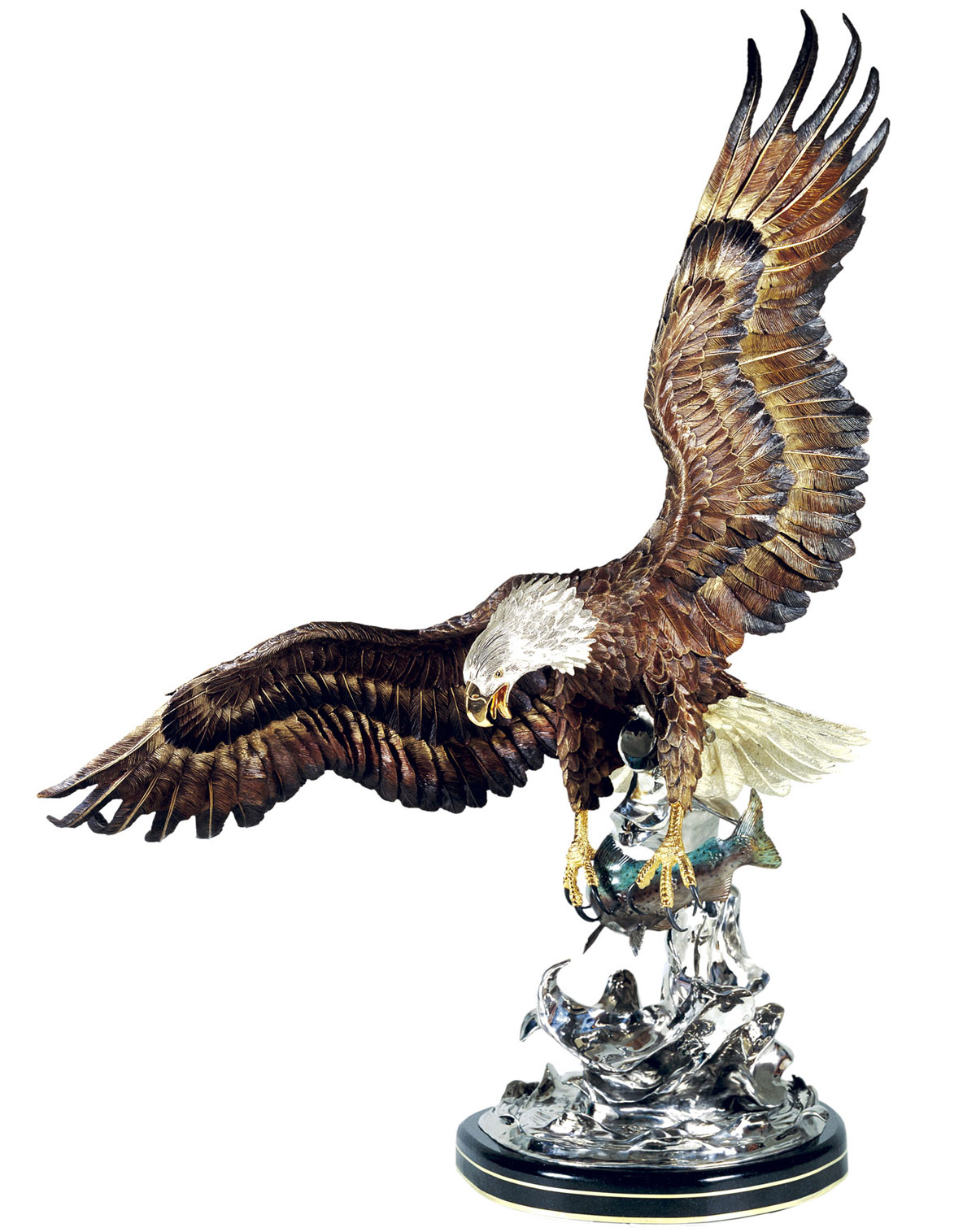Bald Eagle Sculpture On The Wings of An Eagle