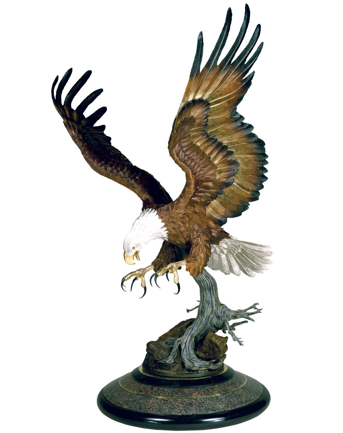Bald Eagle Sculpture On Thunderbird