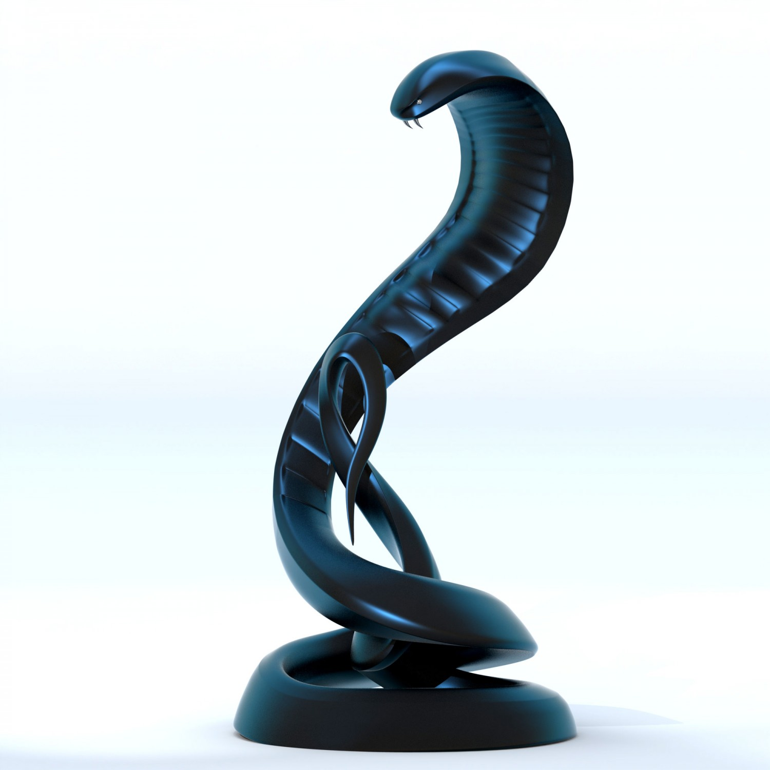 Cobra Snake Sculpture Modern Contemporary Monument Statue 2 e1412740606853