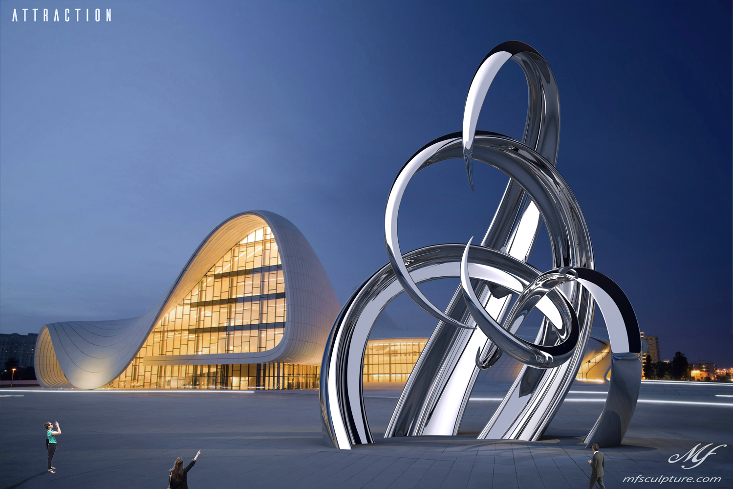Contemporary Sculpture Heydar Aliyev Centre Baku Azerbaijan Attraction