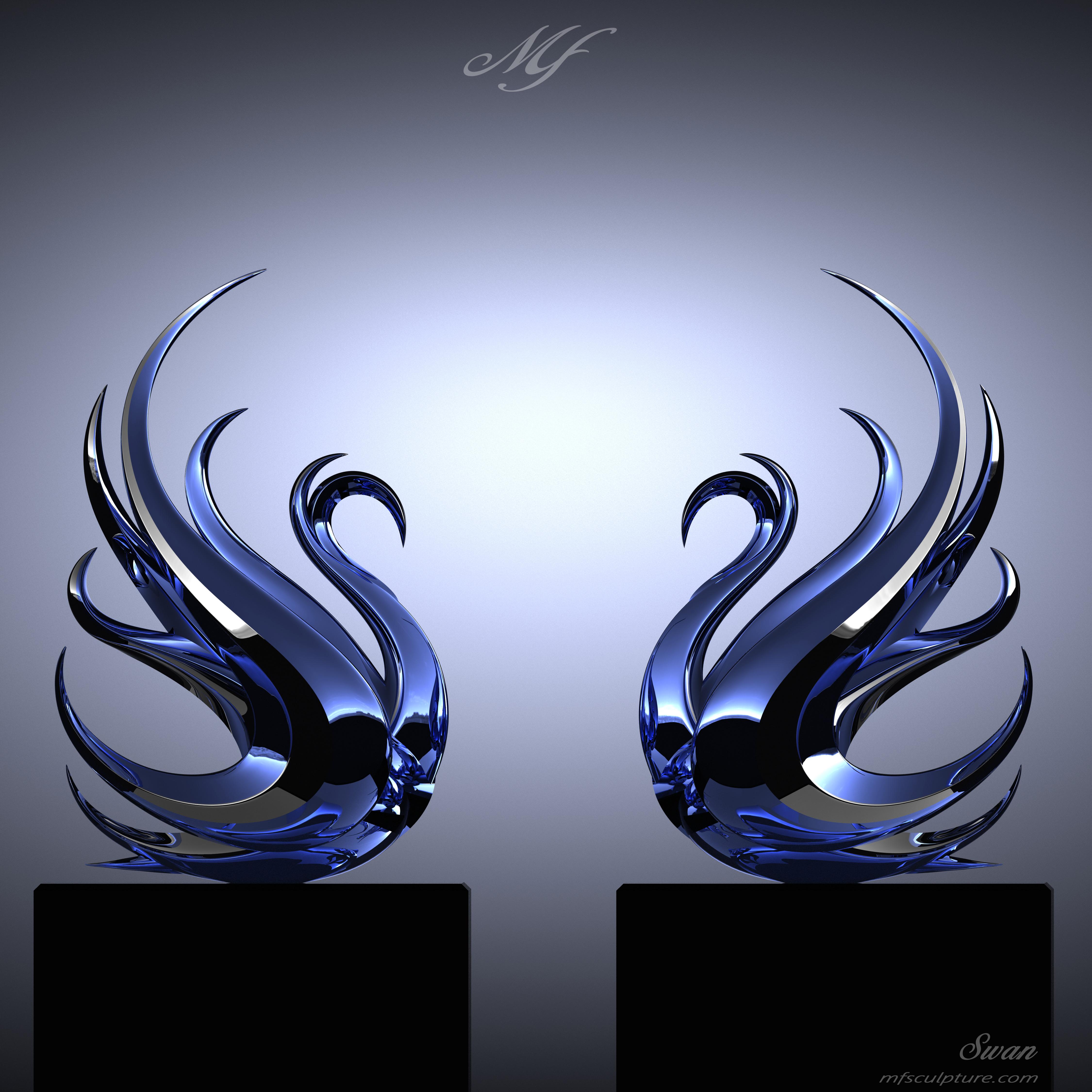 Swan | Contemporary, Modern Interior Design Sculpture