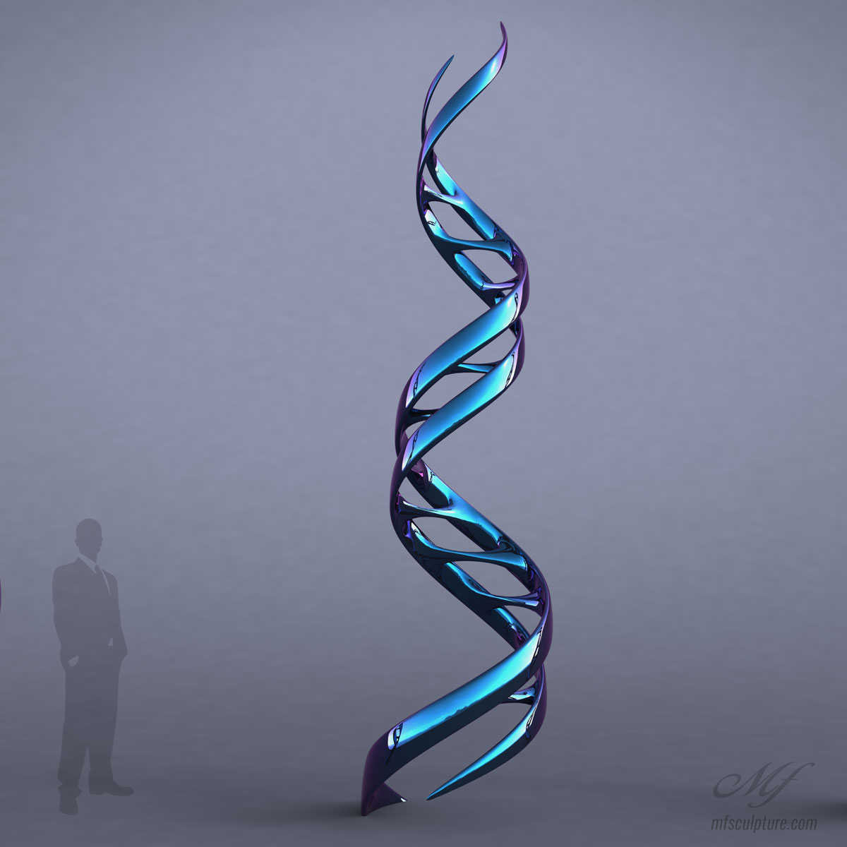 DNA Contemporary SCULPTURE MODERN Ribbon of Life