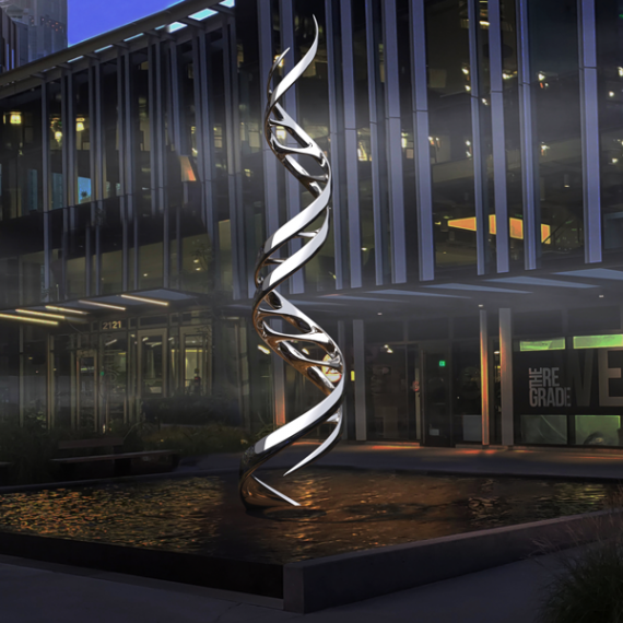 DNA Double Helix Contemporary Sculpture Ribbon of Life