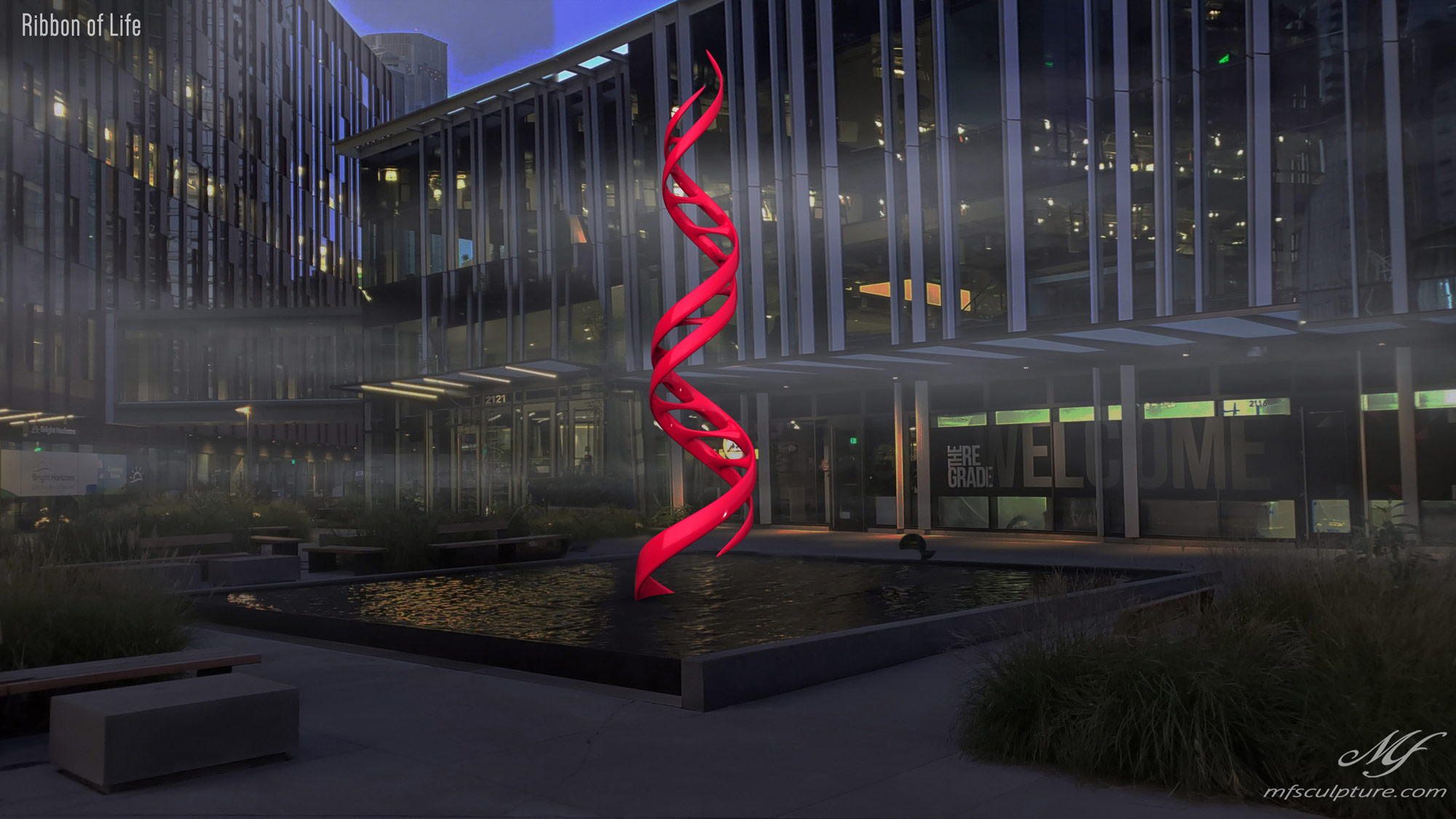 DNA Double Helix Sculpture Contemporary Biology 4