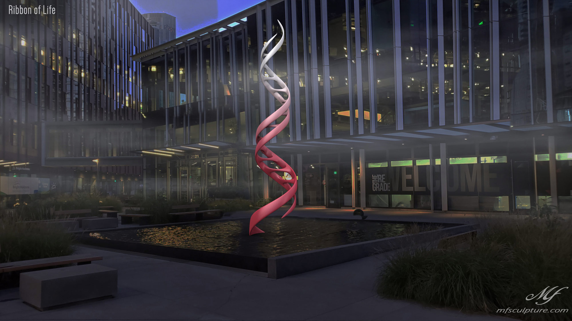 DNA Double Helix Sculpture Contemporary Biology 6