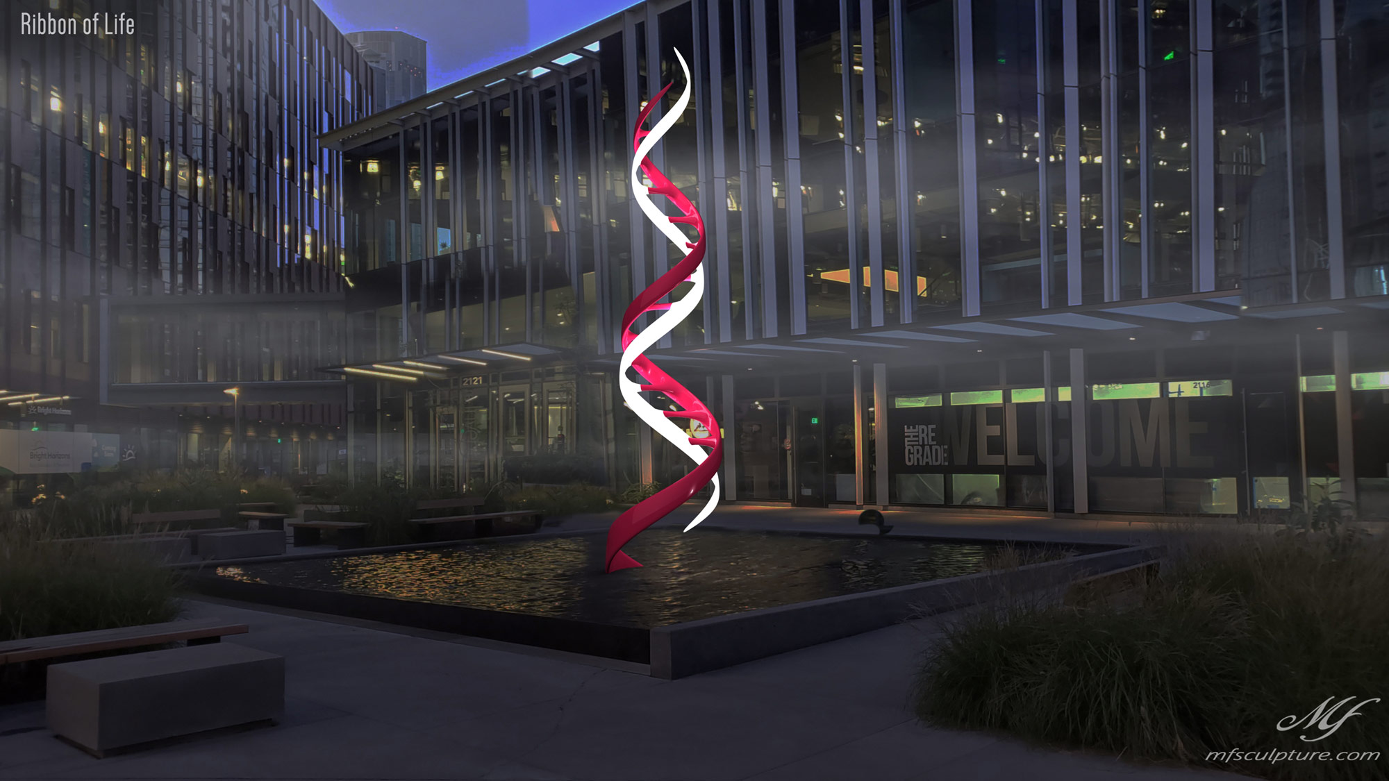 DNA Double Helix Sculpture Contemporary Biology 7