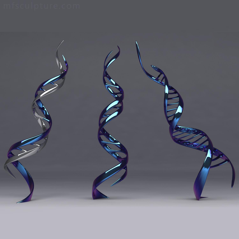 DNA MODERN SCULPTURE Contemporary Ribbon of Life art