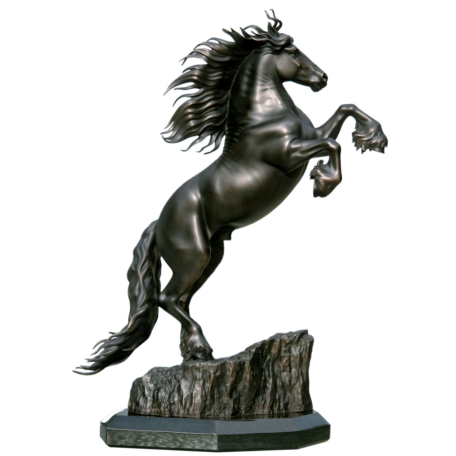 Friesian Horse Sculpture Friedom Stallion Statue bronze