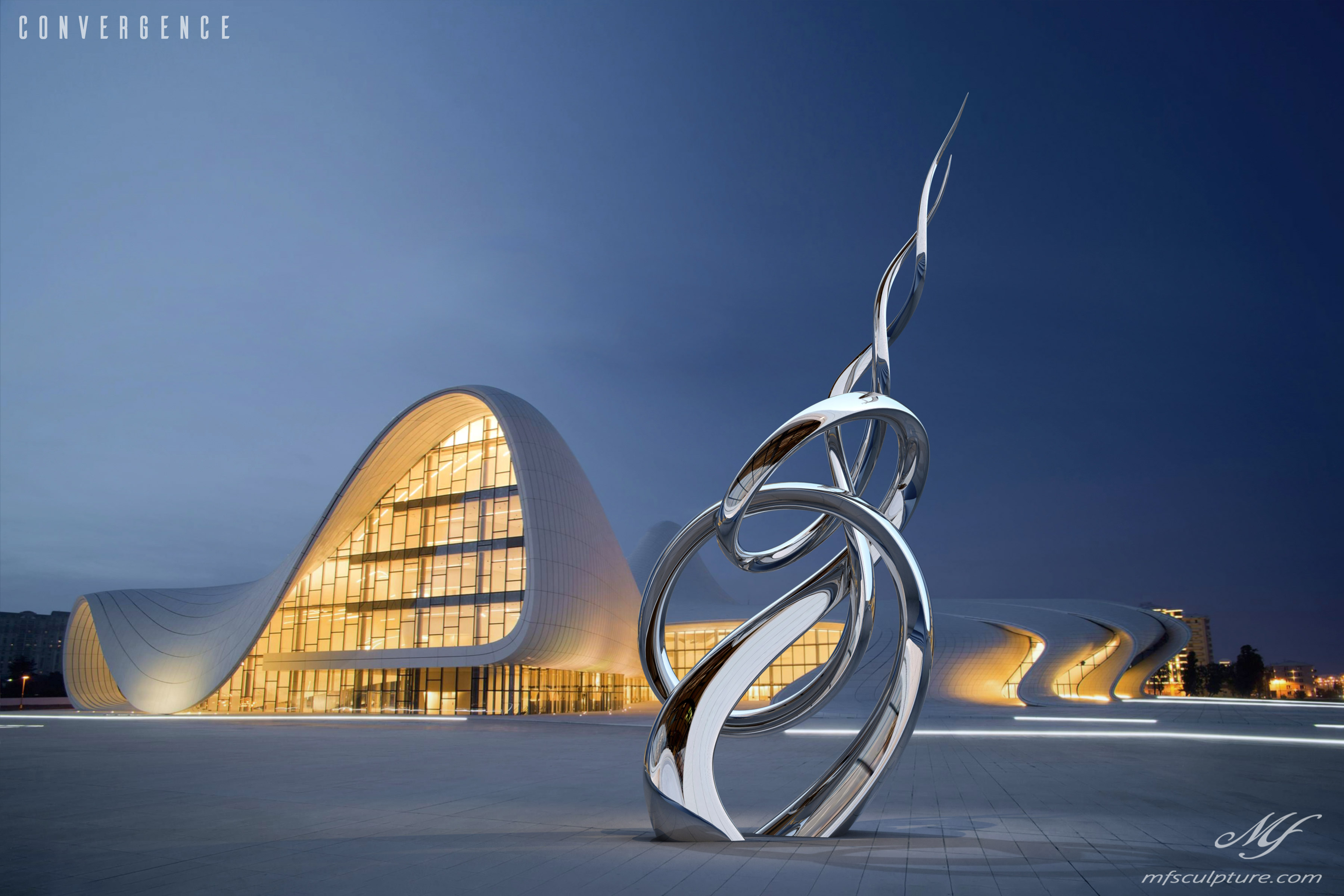 Heydar Aliyev Zaha Hadid Convergence Modern Sculpture Public Art 2