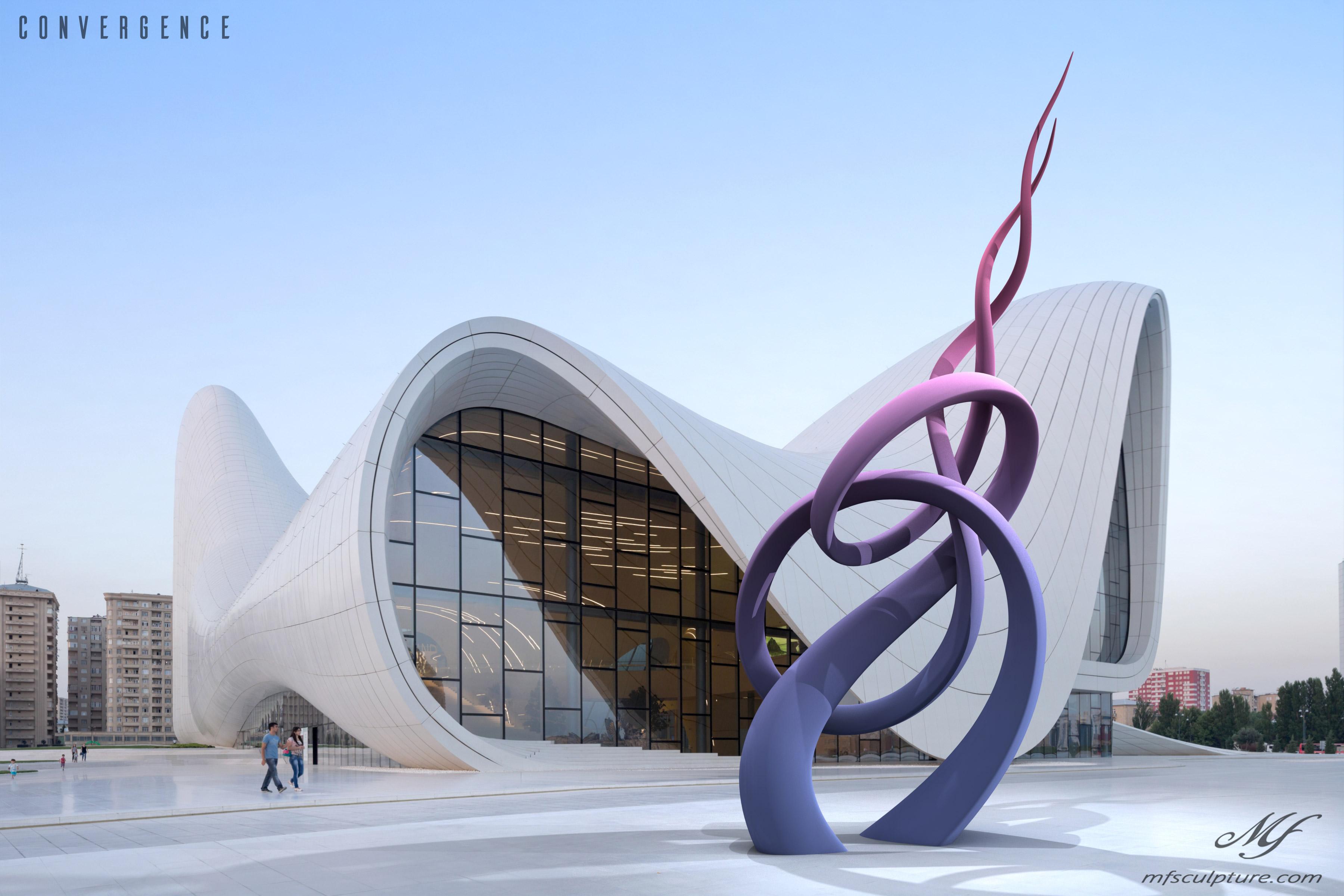 Heydar Aliyev Zaha Hadid Convergence Modern Sculpture Public Art 3