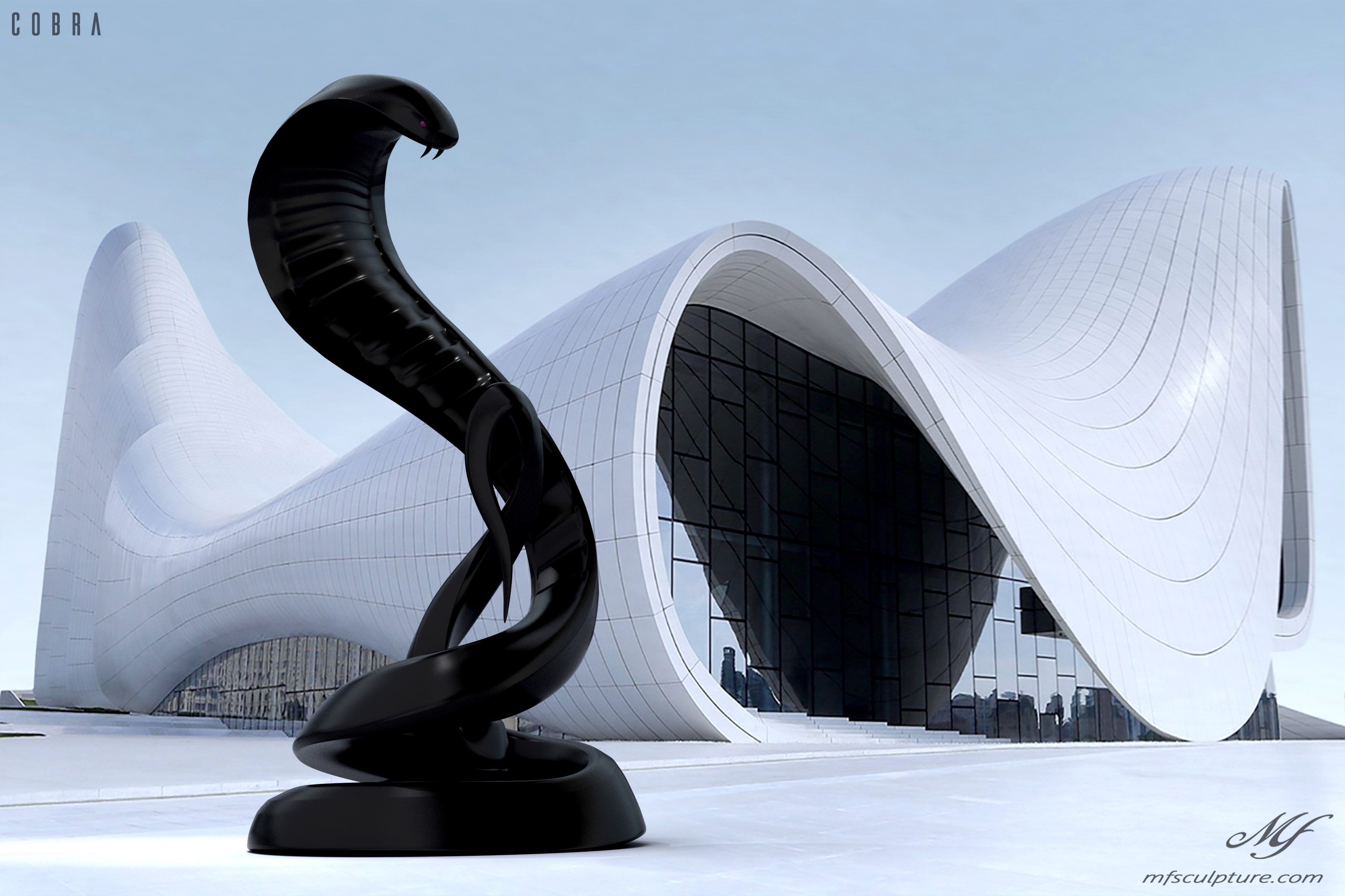 Heydar Aliyev Zaha Hadid Modern Sculpture Cobra2 3
