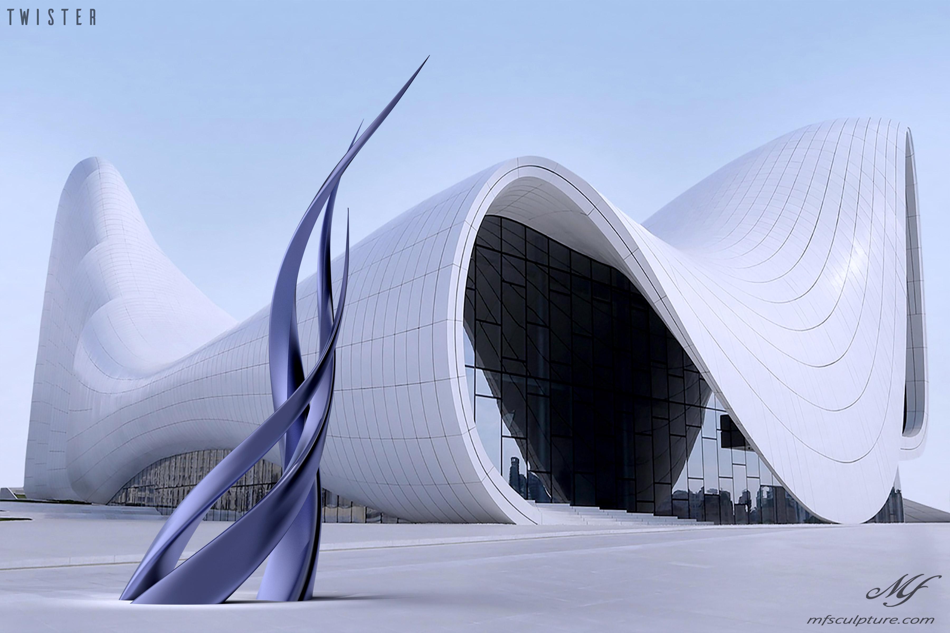Heydar Aliyev Zaha Hadid Modern Sculpture Public Art Twister 8