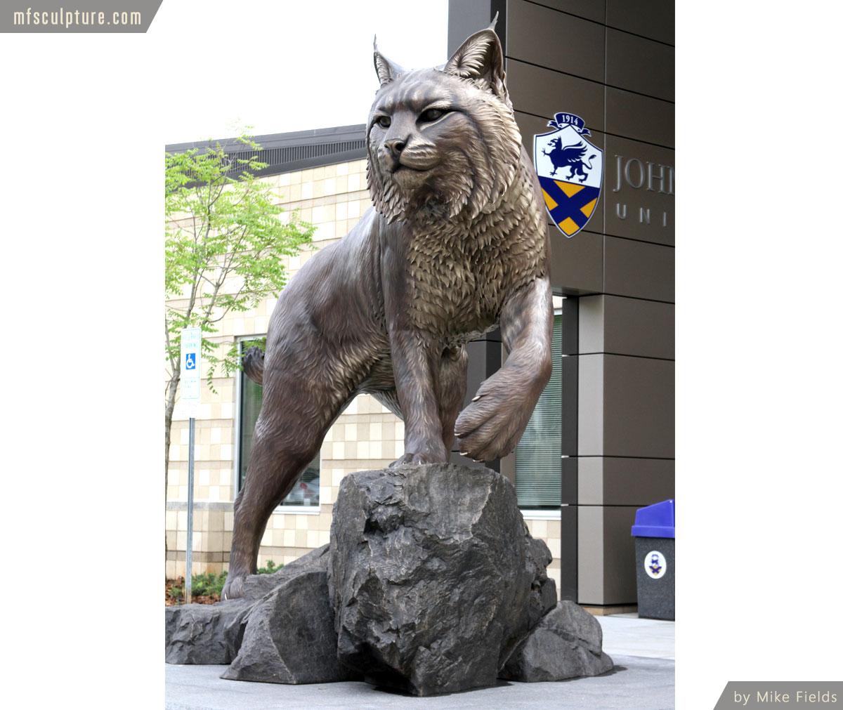 JWU University Mascot Statue Monument Realism
