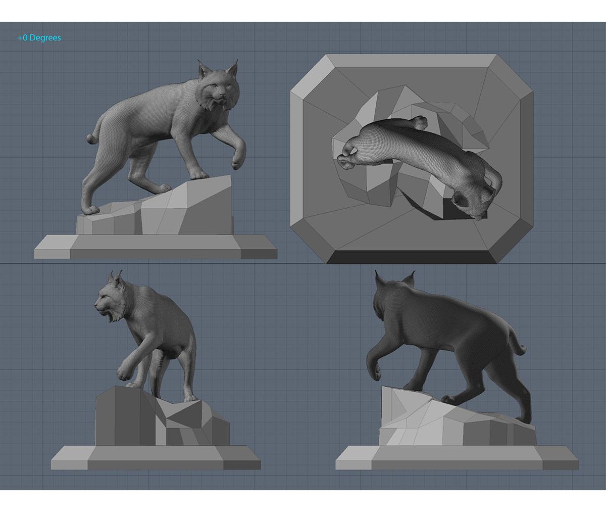 JWU University Wildcat Bronze Mascot Engineering Bobcat 2