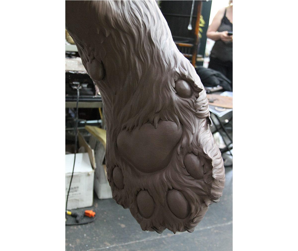 JWU University Wildcat Bronze Mascot Sculpting Clay Bobcat 13