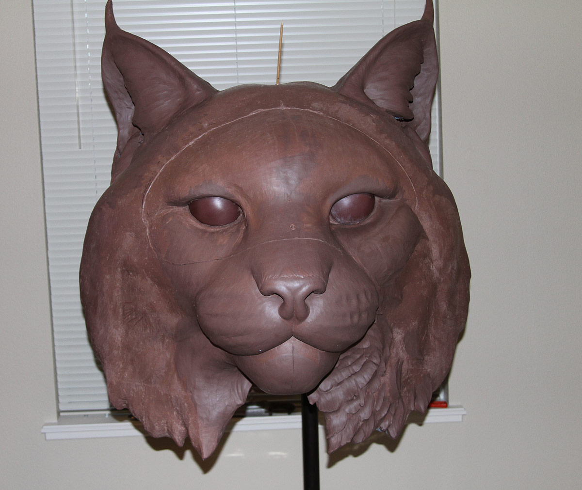 JWU University Wildcat Bronze Mascot Sculpting Clay Bobcat