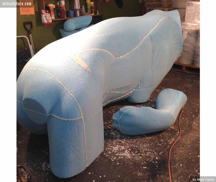 JWU University Wildcat CNC Foam Sculpture n