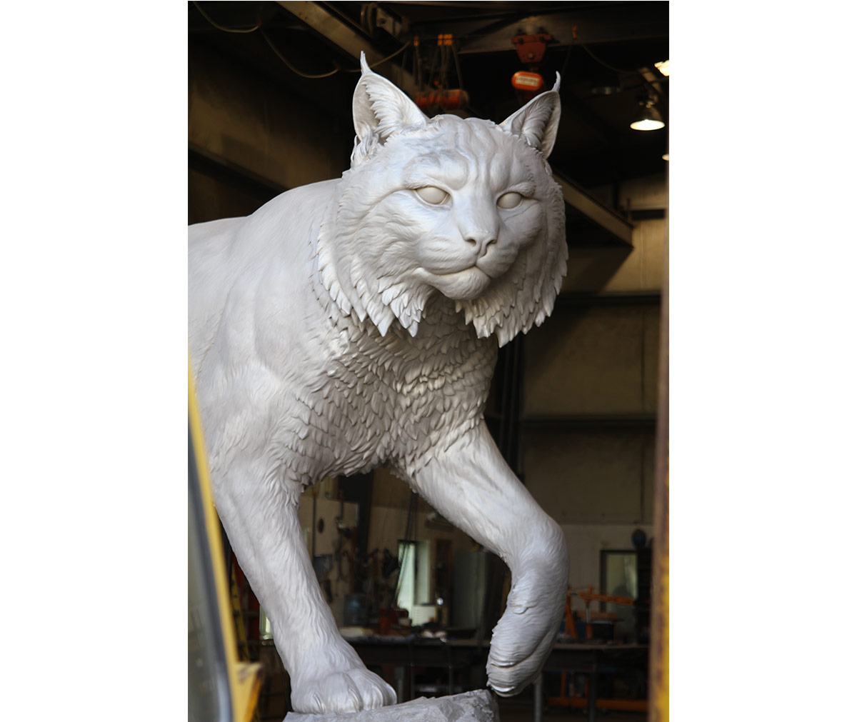 JWU University Wildcat CNC Mascot Lost Wax Investment Casting Bobcat Sandblasting 2