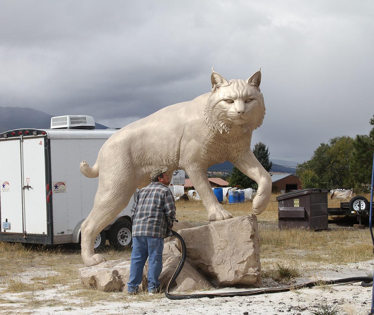 JWU University Wildcat CNC Mascot Lost Wax Investment Casting Bobcat Sandblasting