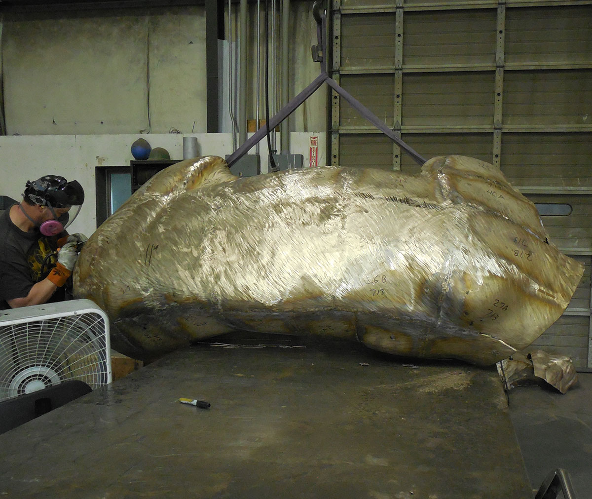 JWU University Wildcat Mascot Lost Wax Investment Casting Bobcat Monument 10
