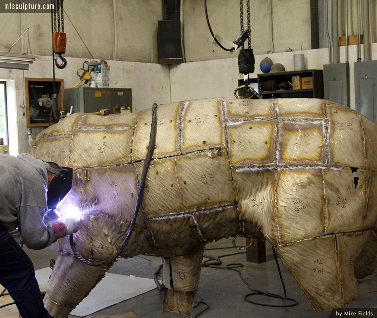 JWU University Wildcat Mascot Lost Wax Investment Casting Bobcat Monument 11