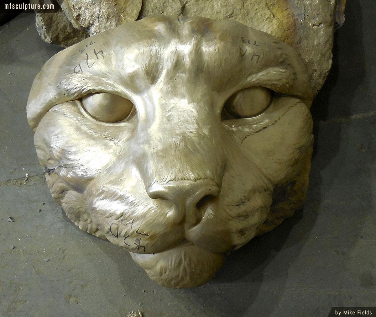 JWU University Wildcat Mascot Lost Wax Investment Casting Bobcat Monument 3