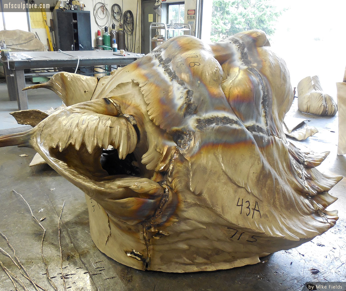 JWU University Wildcat Mascot Lost Wax Investment Casting Bobcat Monument 8