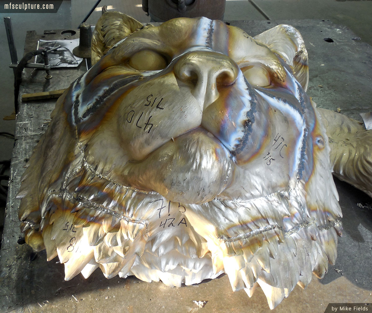 JWU University Wildcat Mascot Lost Wax Investment Casting Bobcat Monument 9