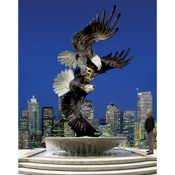 Majestic Courtship Eagle Sculpture Monument America