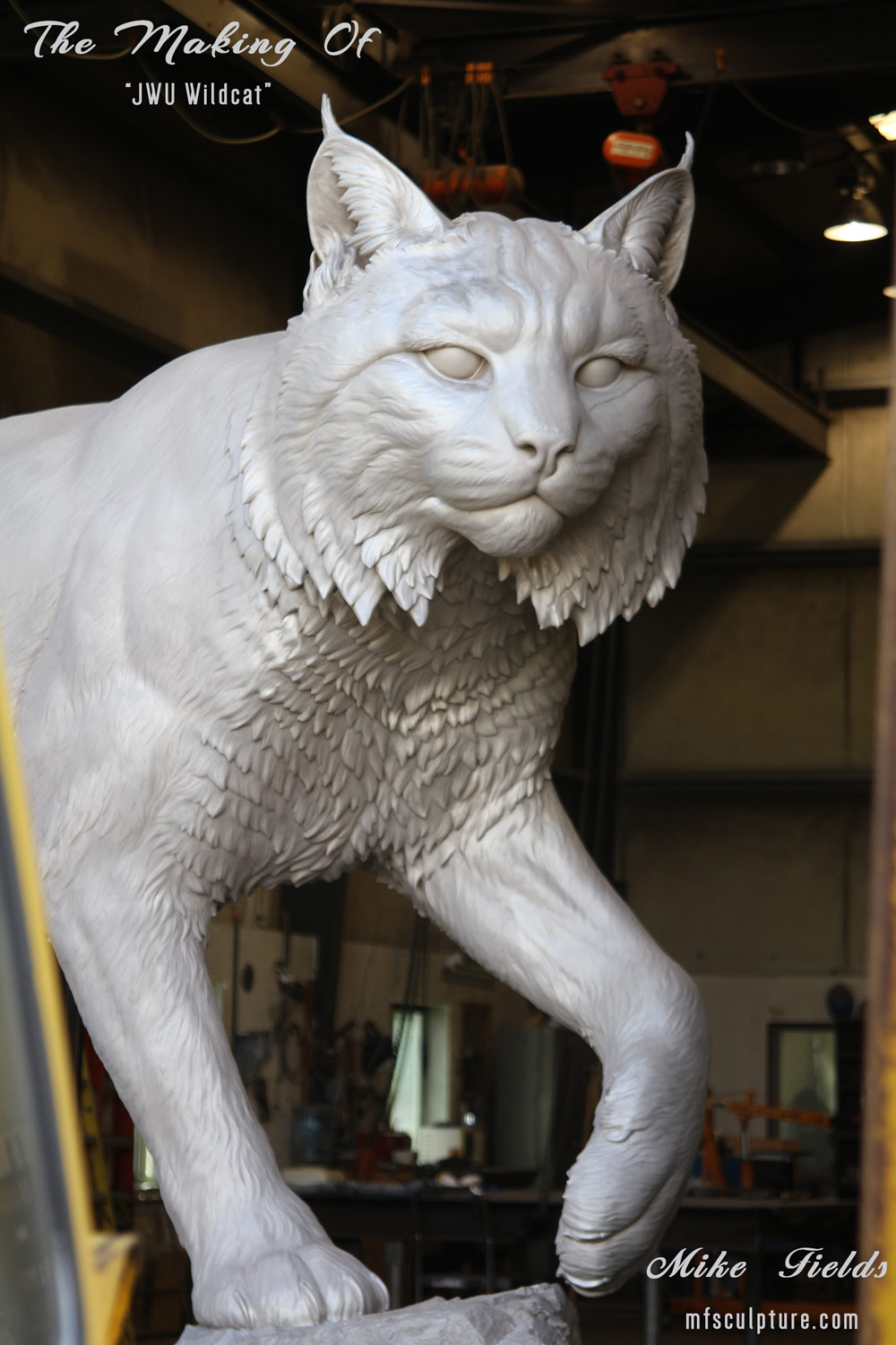 Mike Fields Making Of JWU Wildcat Sculpture