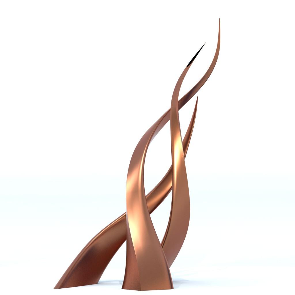 Modern Contemporary Twister Sculpture Monument Statue 2 e1412781408545