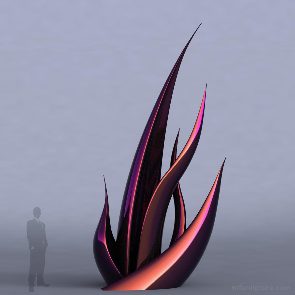 Succulent modern sculpture mike fields bronzes for Art moderne sculpture