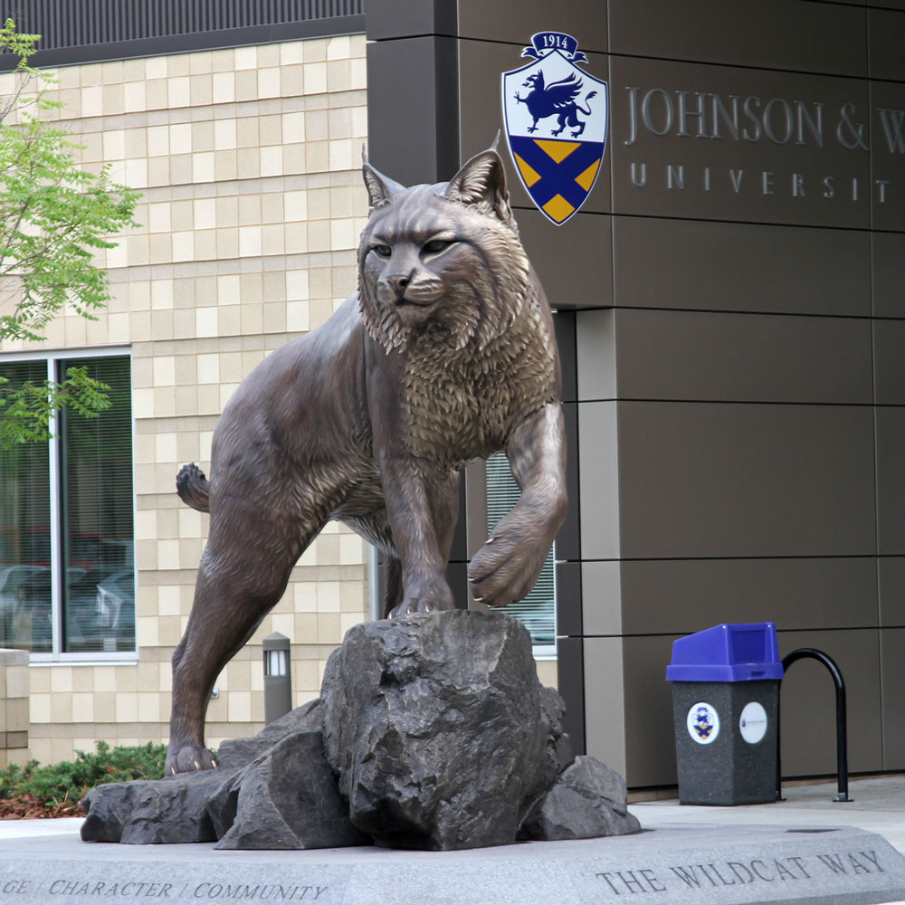 University Mascot Monument Wildcat Sculpture JWU College Professional team 10