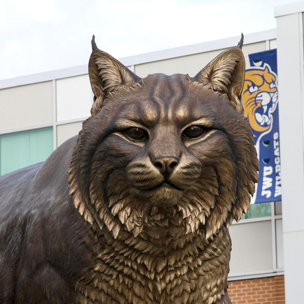 University Mascot Monument Wildcat Sculpture JWU College Professional team 6