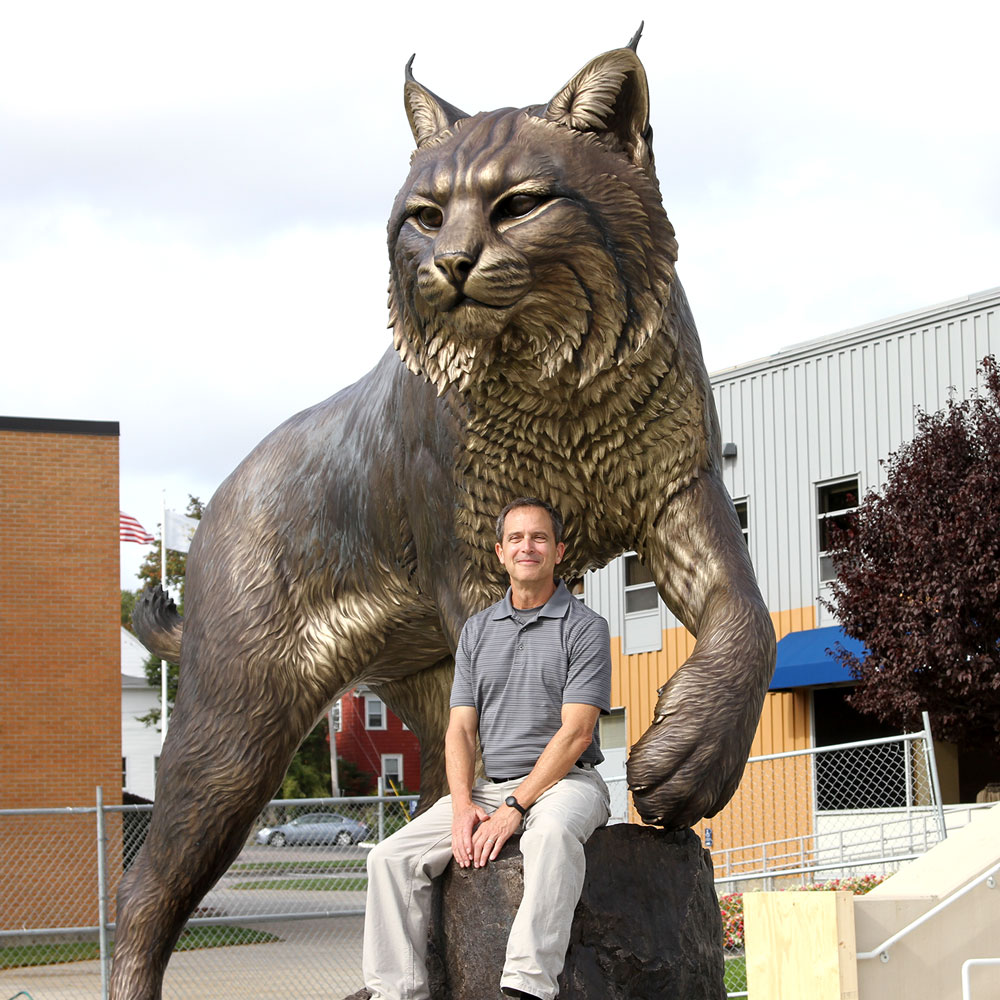 University Mascot Monument Wildcat Sculpture JWU College Professional team 7