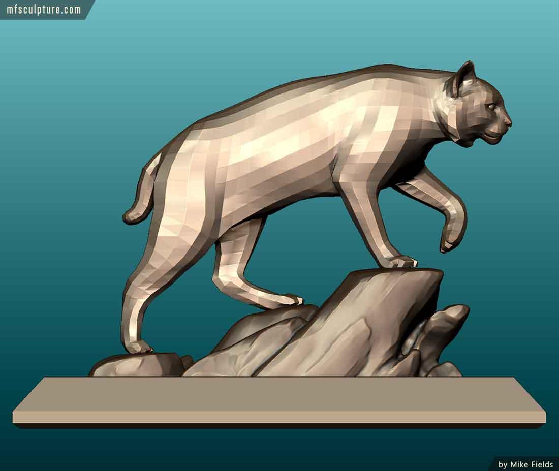 University Wildcat Mascot Monument Bobcat Statue Stadium 11