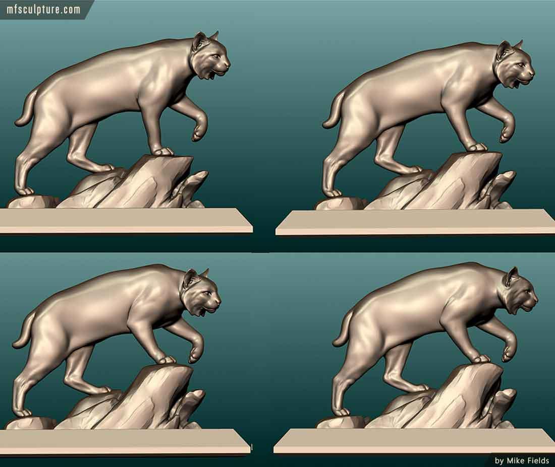 University Wildcat Mascot Monument Bobcat Statue Stadium 9