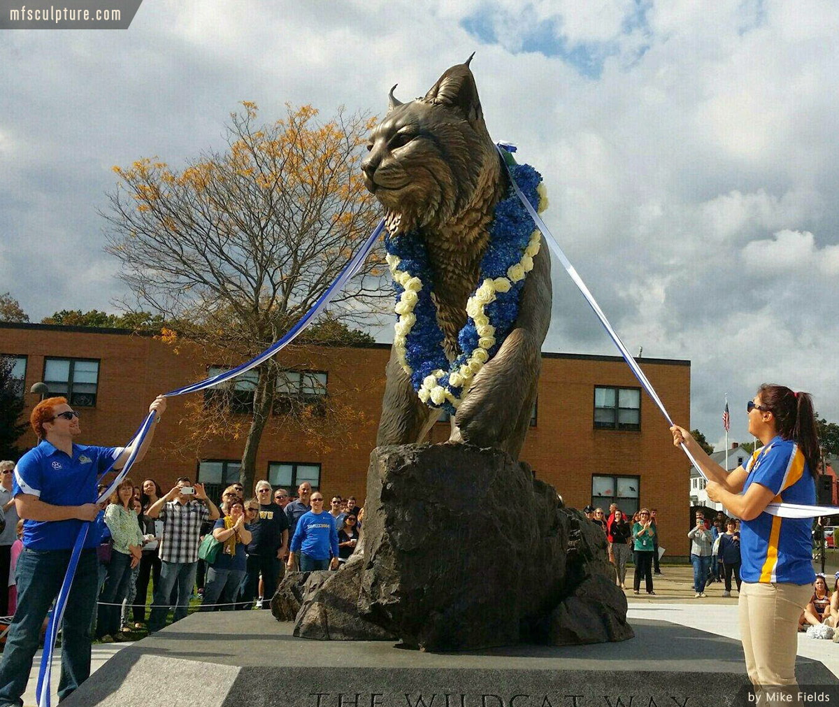University Wildcat Sculpture Mascot Stadium Public Art 3