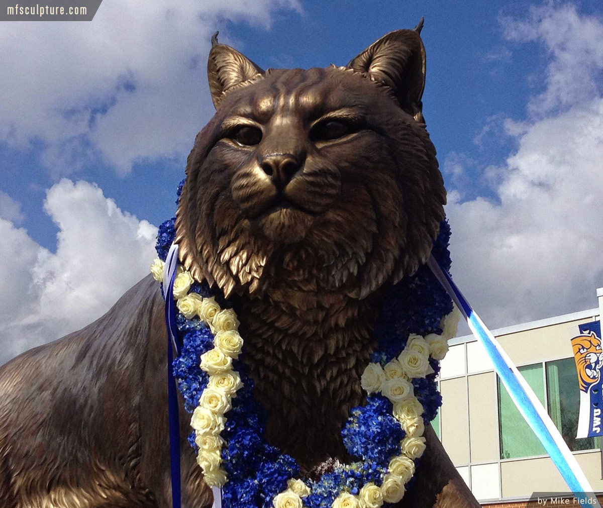 University Wildcat Sculpture Mascot Stadium Public Art 4