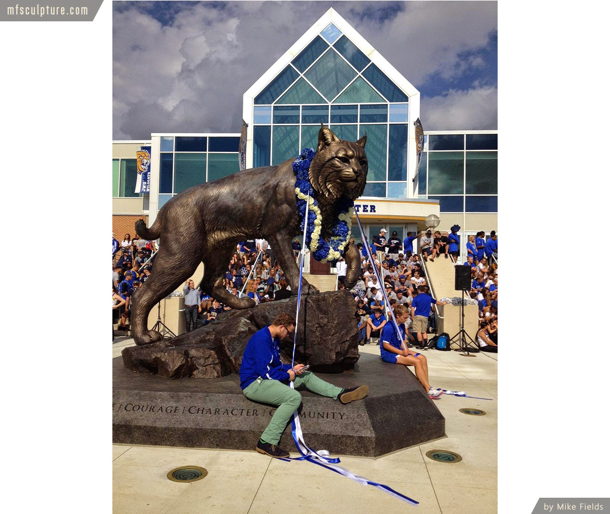 University Wildcat Sculpture Mascot Stadium Public Art
