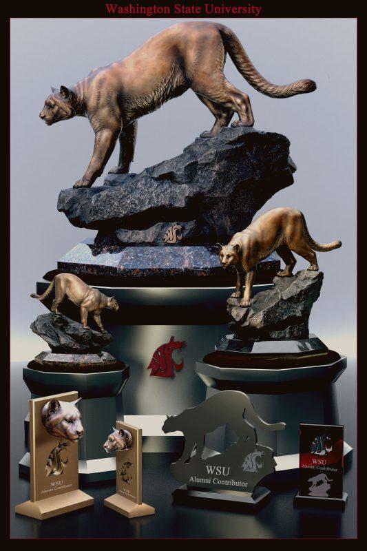 WSU Cougar Pride Replica Bronzes