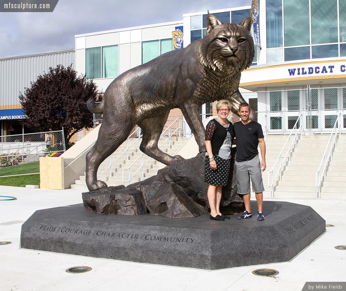 Wildcat Sculpture University Mascot Monument Art 2