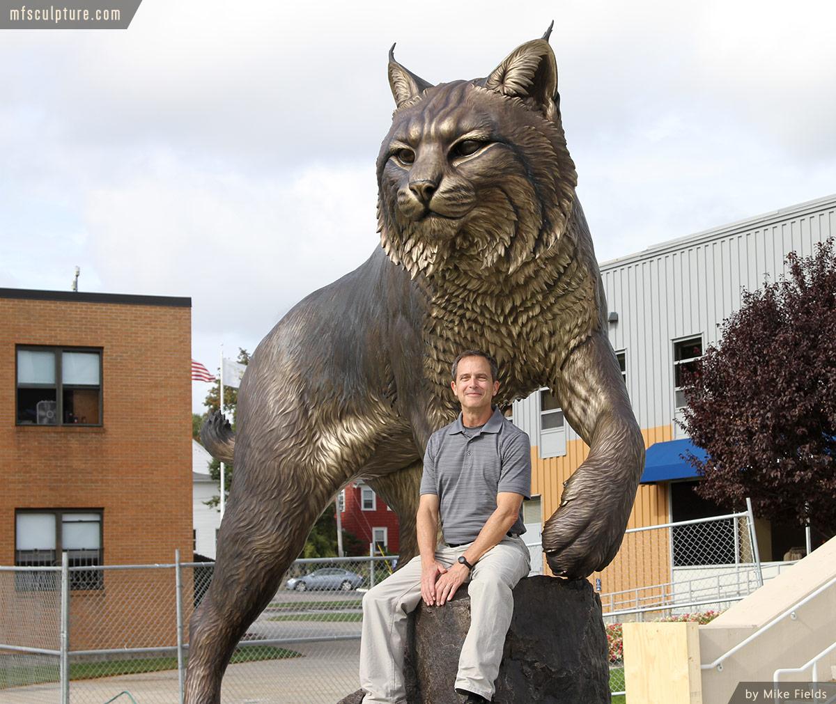 Wildcat Sculpture University Mascot Monument Art