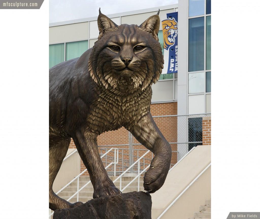 Wildcat Sculpture University Mascot Monument Public Art
