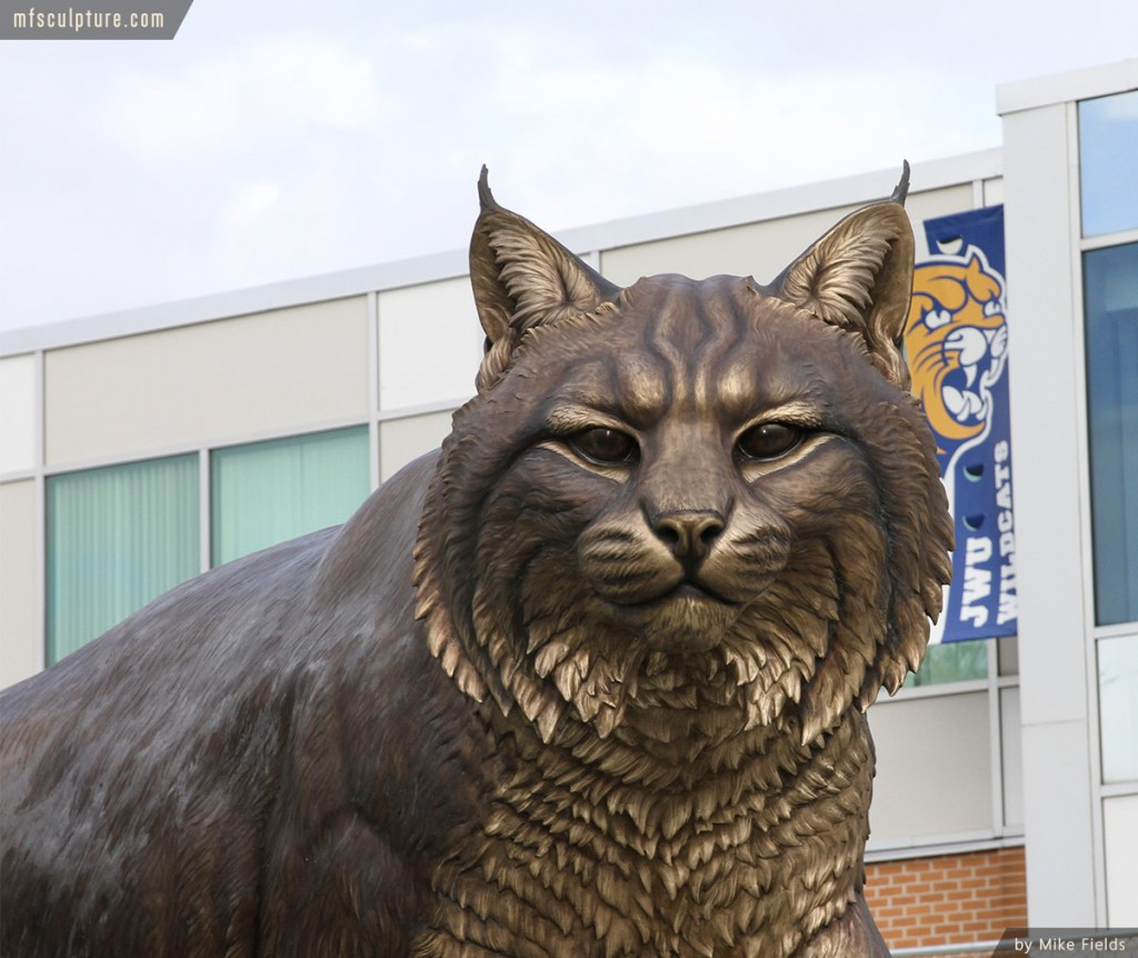Wildcat Sculpture University Mascot Monument Public Art 2
