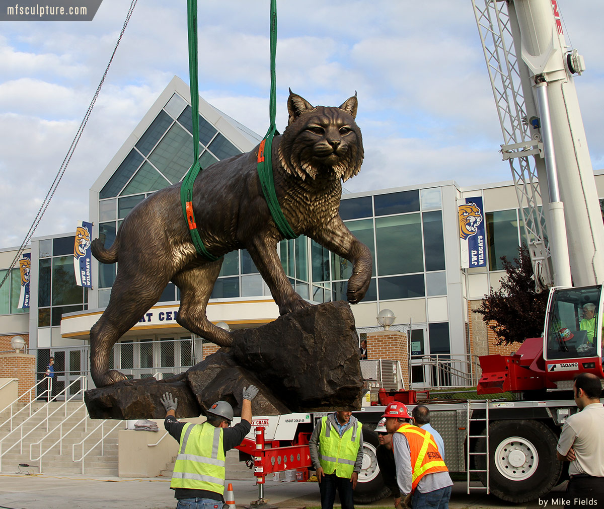 Wildcat Sculpture University Mascot Monument Public Art 4