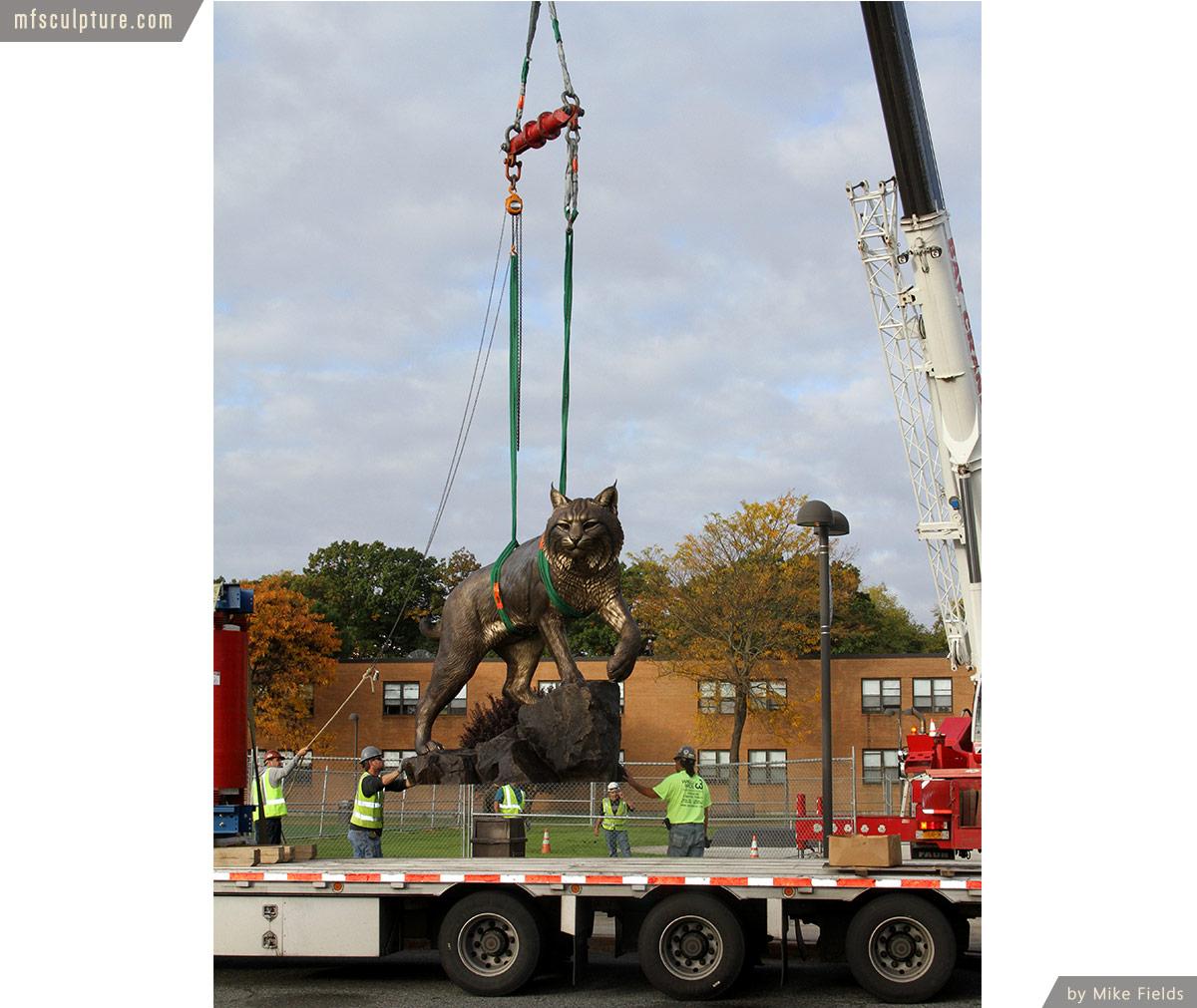 Wildcat Sculpture University Mascot Monument Public Art 5
