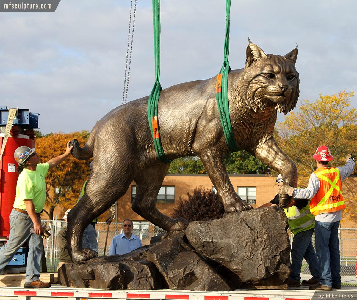 Wildcat Sculpture University Mascot Monument Public Art 6