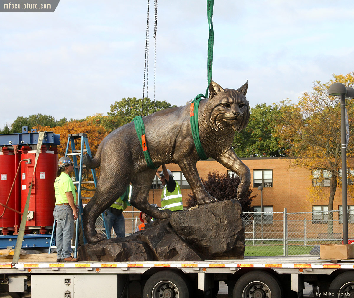 Wildcat Sculpture University Mascot Monument Public Art 8